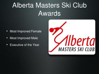 Alberta Masters Ski Club Awards