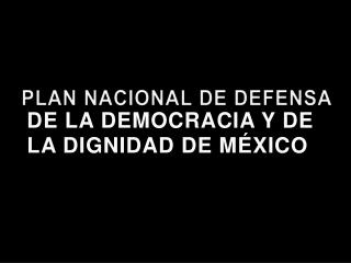 PLAN NACIONAL DE DEFENSA