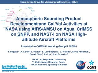 NASA AIRS Project  Highlights ( JPL/GSFC)