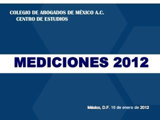 México, D.F .  10  de  enero  de 2012
