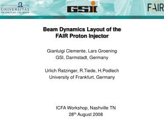 Beam Dynamics Layout of the  FAIR Proton Injector