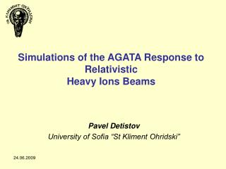 Simulations of the AGATA Response to Relativistic Heavy Ions Beams