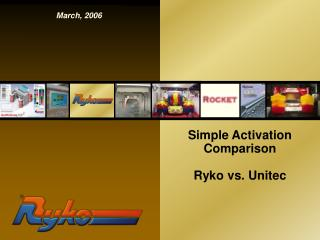 Simple Activation Comparison Ryko vs. Unitec