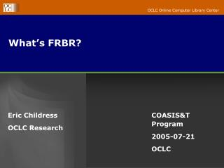 What's FRBR?