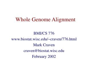 Whole Genome Alignment