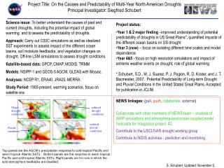 Project Title:  On the Causes and Predictability of Multi-Year North American Droughts