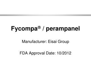 Fycompa   / perampanel