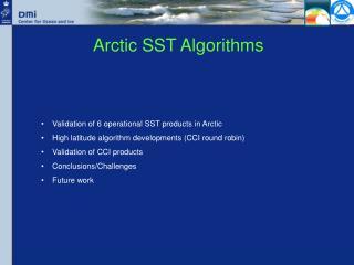 Arctic SST Algorithms