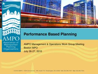 Performance Based Planning