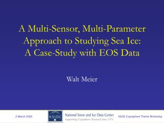 A Multi-Sensor, Multi-Parameter Approach to Studying Sea Ice:  A Case-Study with EOS Data