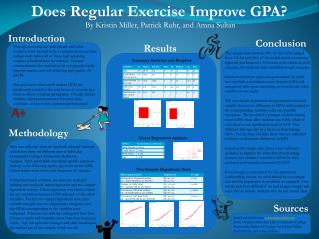 Does Regular Exercise Improve GPA?