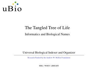 Universal Biological Indexer and Organizer