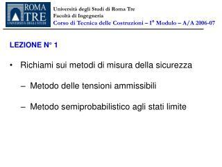 Università degli Studi di Roma Tre Facoltà di Ingegneria