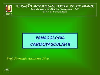 FAMACOLOGIA CARDIOVASCULAR II