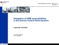 Delegation of HRM responsibilities in the German Federal Administration