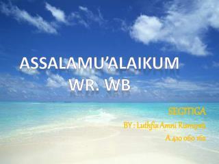 SEGITIGA BY :  Luthfia Amni Rismiyati A 410 060 162