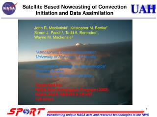 Satellite Based Nowcasting of Convection Initiation and Data Assimilation