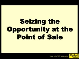 Seizing the Opportunity at the Point of Sale