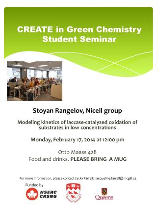 CREATE in Green Chemistry Student Seminar