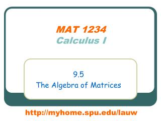 MAT 1234 Calculus I