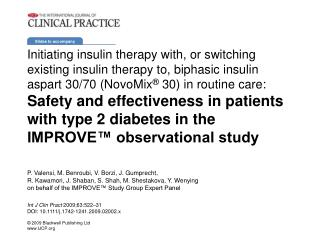 Initiating insulin therapy with, or switching existing insulin therapy to, biphasic insulin aspart 30