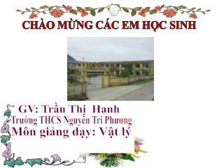 GV: Trần Thị  Hạnh