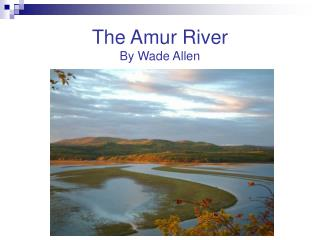 The Amur River By Wade Allen