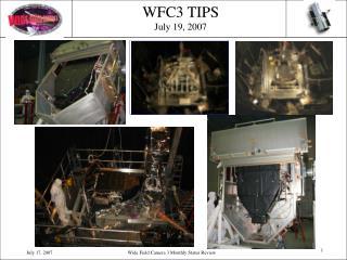 WFC3 TIPS July 19, 2007