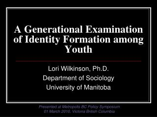 A Generational Examination of Identity Formation among Youth