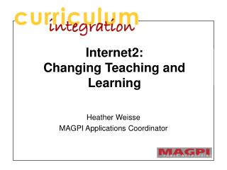 Internet2: Changing Teaching and Learning