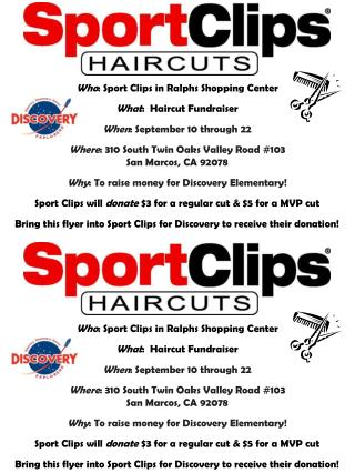 Who : Sport Clips in Ralphs Shopping Center What :  Haircut Fundraiser