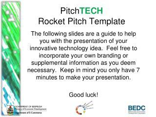 Pitch TECH Rocket Pitch Template