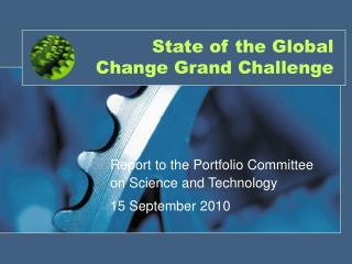 State of the Global Change Grand Challenge