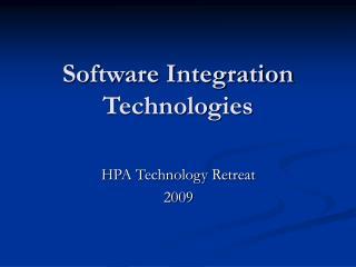 Software Integration Technologies
