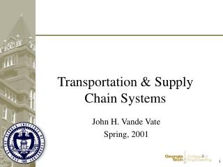 Transportation & Supply Chain Systems