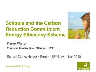 Schools and the Carbon Reduction Commitment Energy Efficiency Scheme