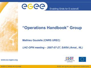"""Operations Handbook"" Group"