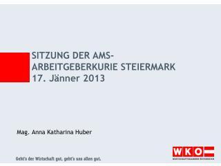 Sitzung der AMS-Arbeitgeberkurie Steiermark 17. Jänner 2013