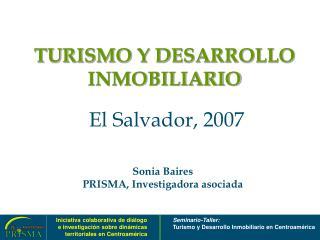 TURISMO Y DESARROLLO INMOBILIARIO