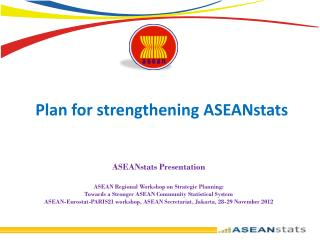 Plan for strengthening ASEANstats