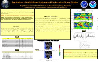 Applications of AMSU-Based Hydrological Products for Climate Studies
