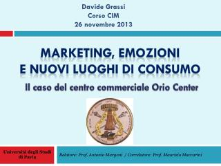 Relatore: Prof. Antonio Margoni  / Correlatore: Prof. Maurizio  Maccarini