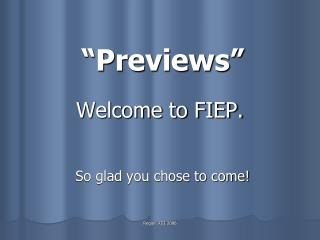 Welcome to FIEP.