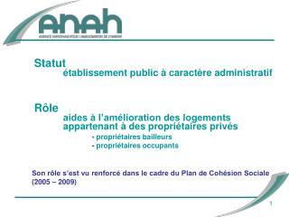 Son rôle s'est vu renforcé dans le cadre du Plan de Cohésion Sociale (2005 – 2009)