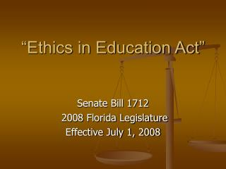�Ethics in Education Act�