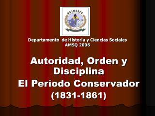 Departamento  de Historia y Ciencias Sociales AMSQ 2006