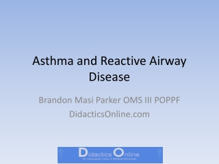 Developing a Diagnostic and Management Tool for Paediatric Asthma