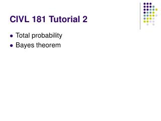 CIVL 181 Tutorial 2