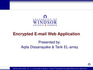 Encrypted E-mail Web Application