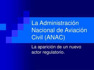 La Administraci�n Nacional de Aviaci�n Civil (ANAC)